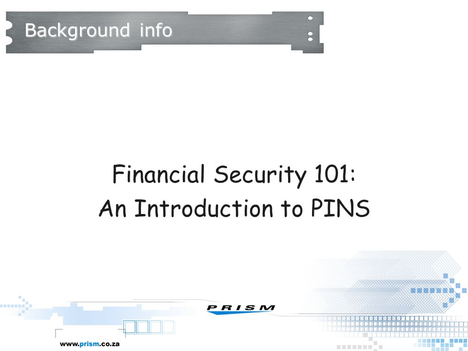 An Introduction to PINS