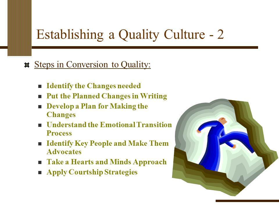 Establishing a Quality Culture - 2