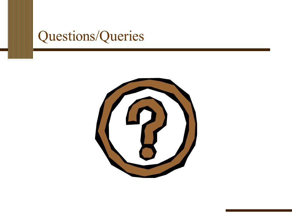 Questions/Queries