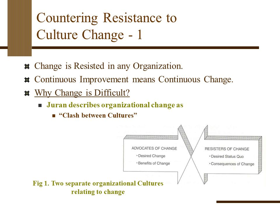 Countering Resistance to Culture Change - 1