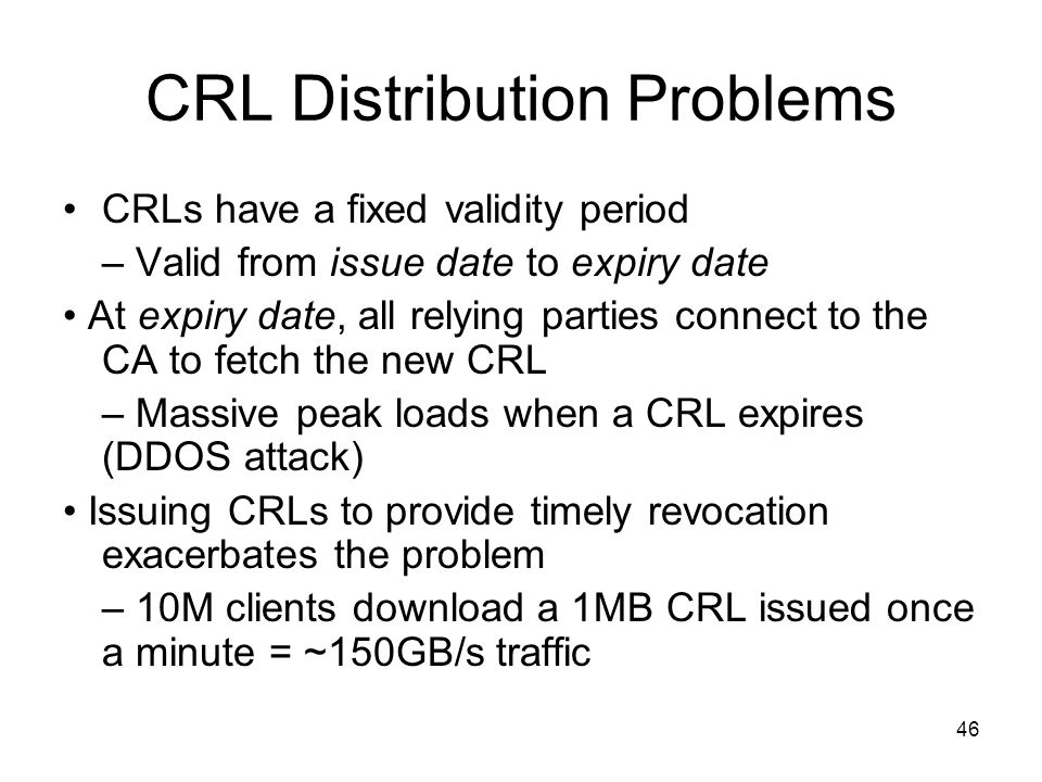 CRL Distribution Problems