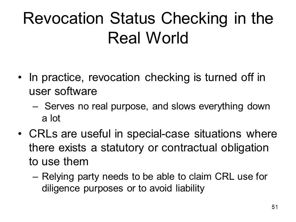 Revocation Status Checking in the Real World