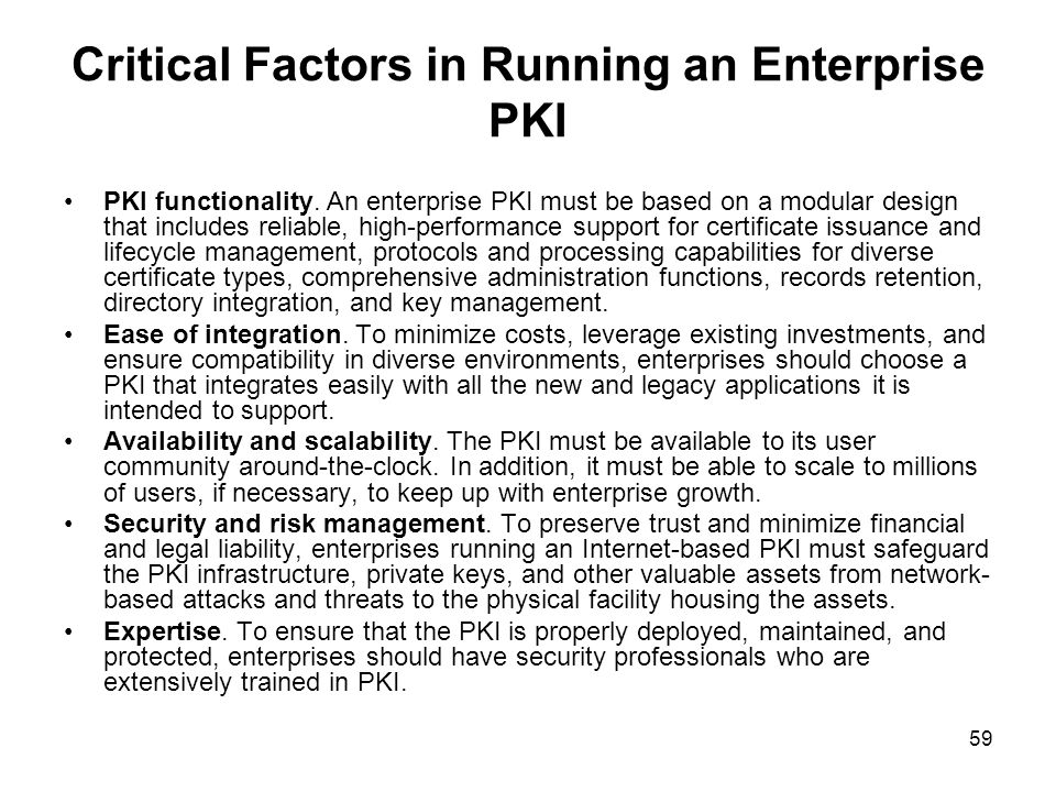 Critical Factors in Running an Enterprise PKI