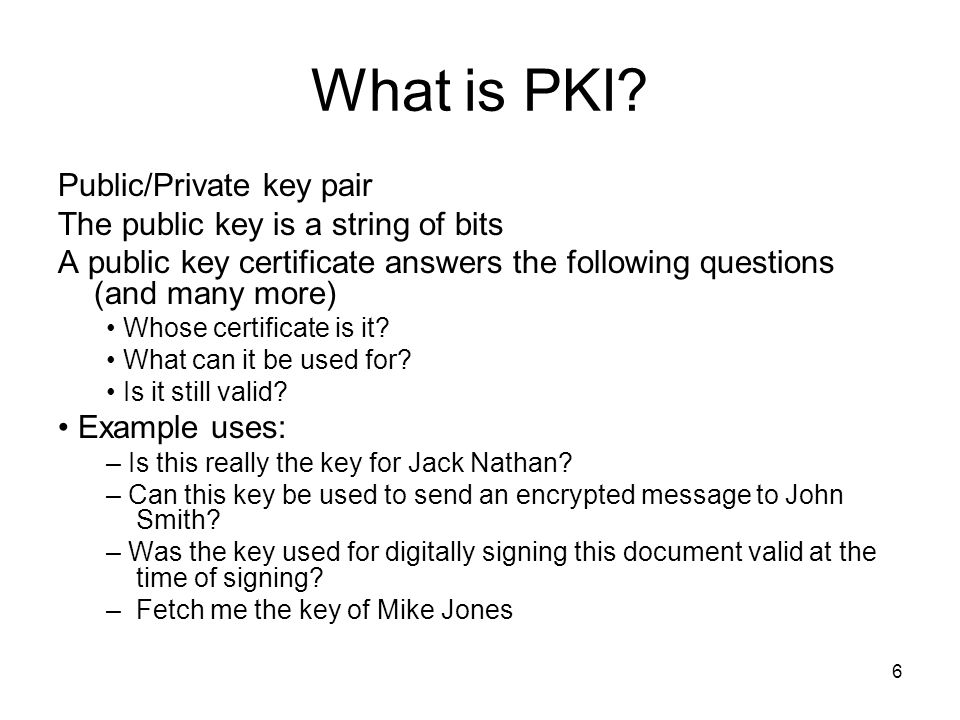 What is PKI Public/Private key pair