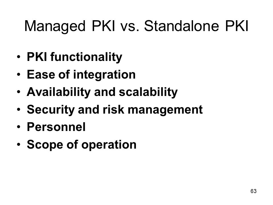 Managed PKI vs. Standalone PKI