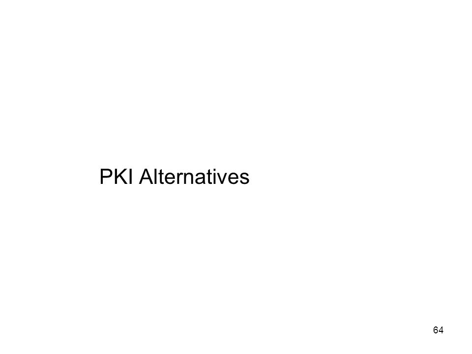 PKI Alternatives