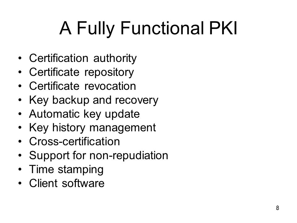 A Fully Functional PKI Certification authority Certificate repository