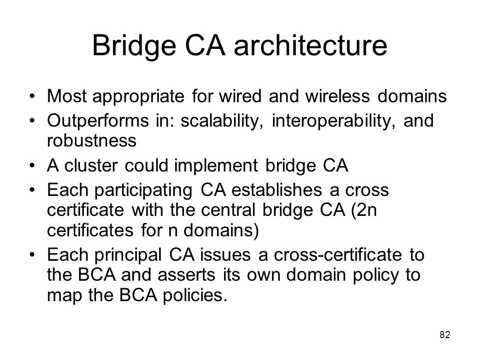 Bridge CA architecture
