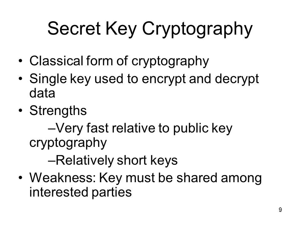 Secret Key Cryptography