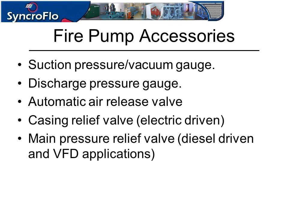 Fire Pump Accessories Suction pressure/vacuum gauge.