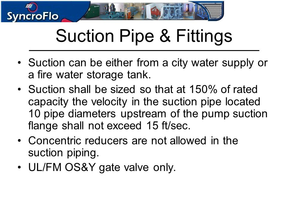 Suction Pipe & Fittings
