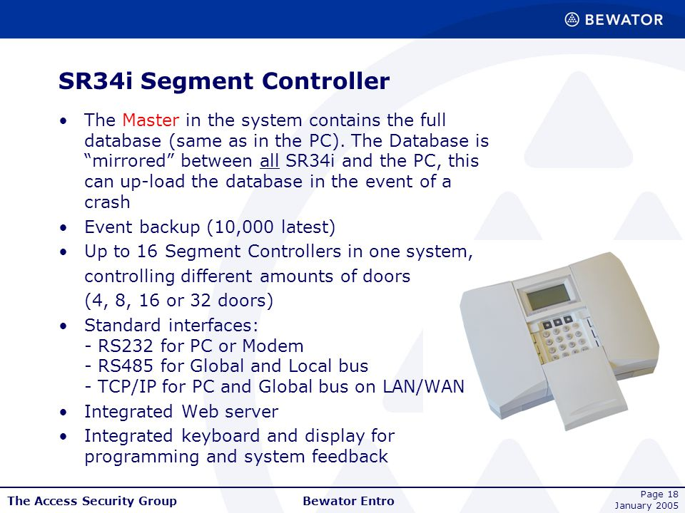 SR34i Segment Controller
