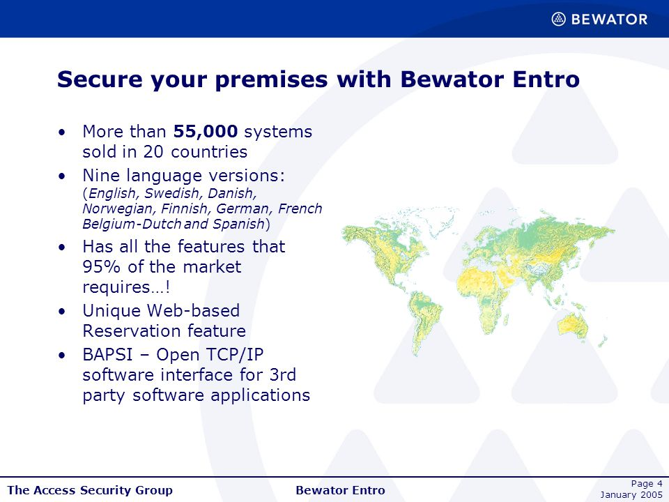 Secure your premises with Bewator Entro