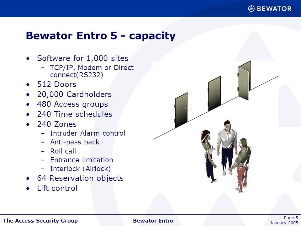 Bewator Entro 5 - capacity