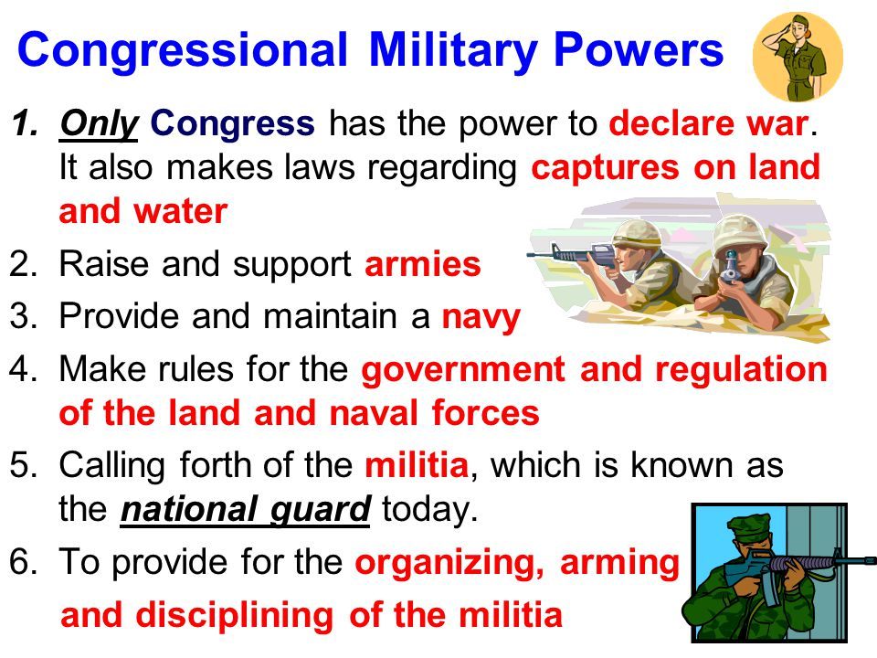 Congressional Military Powers