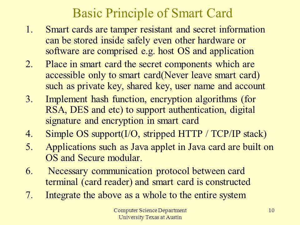 Basic Principle of Smart Card