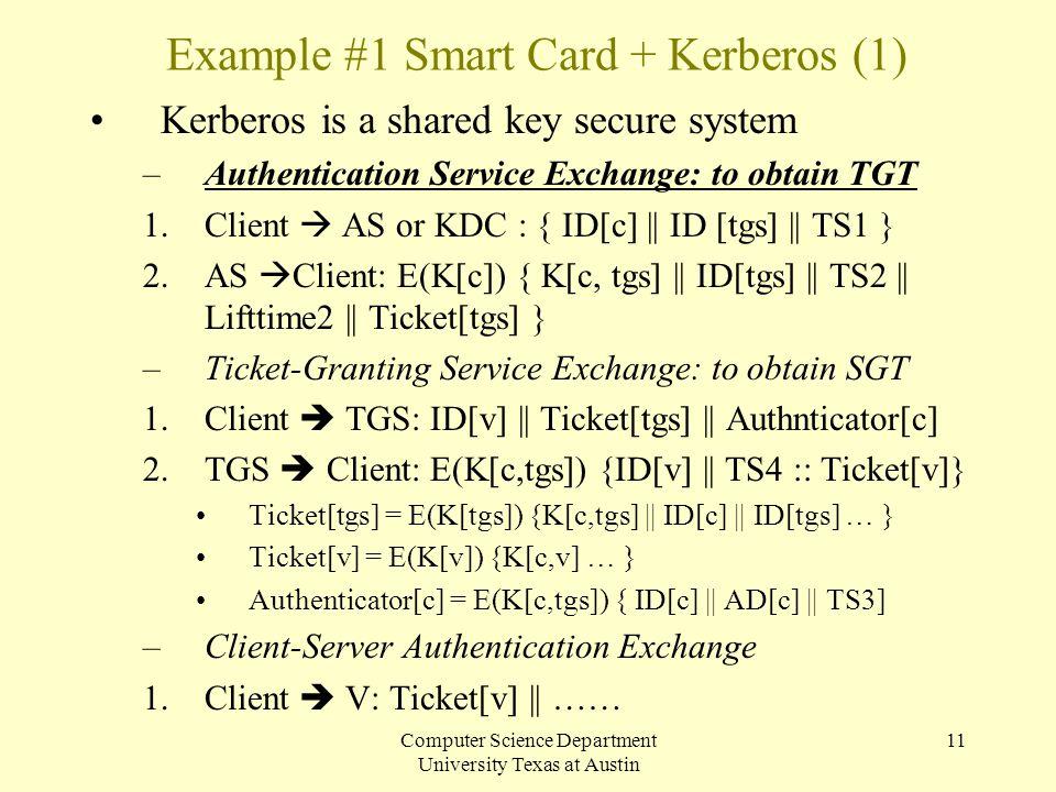 Example #1 Smart Card + Kerberos (1)