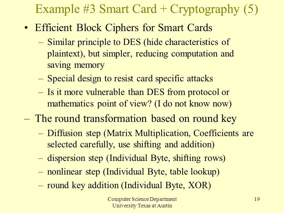 Example #3 Smart Card + Cryptography (5)