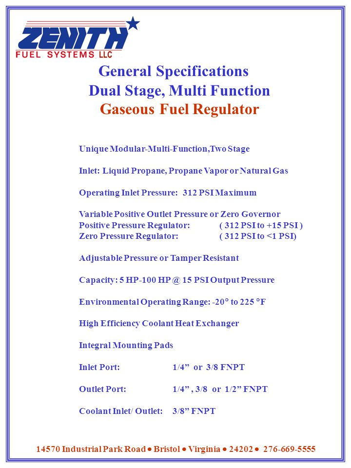 General Specifications
