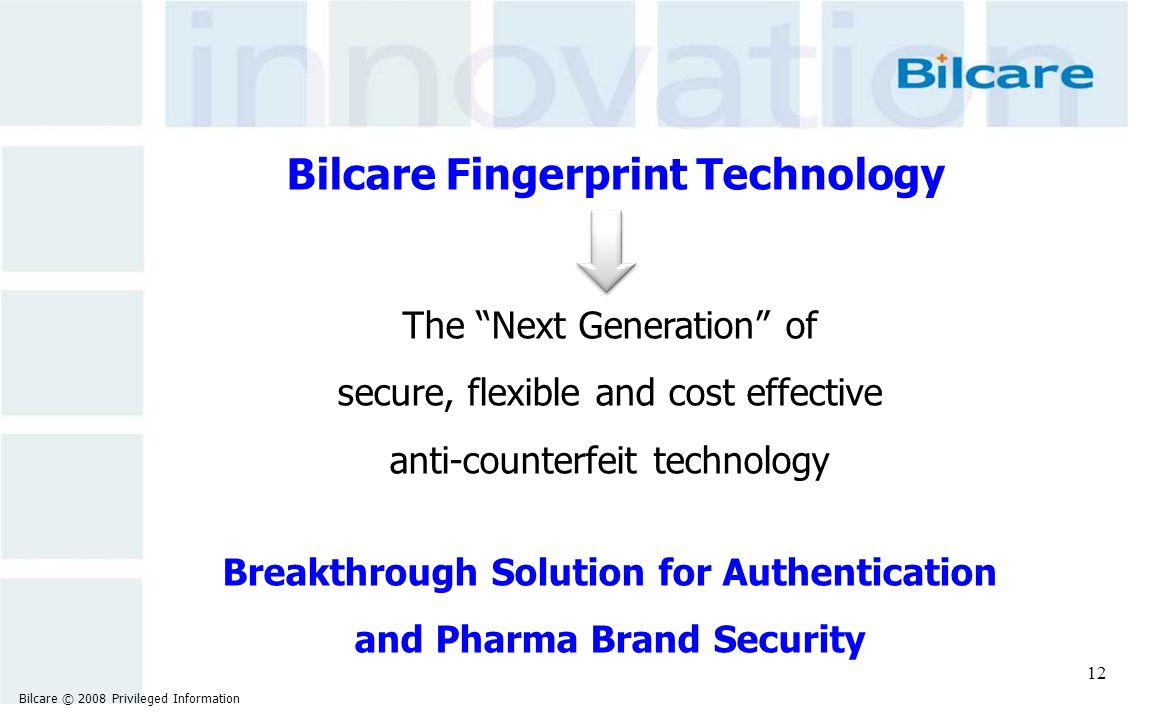 Breakthrough Solution for Authentication and Pharma Brand Security