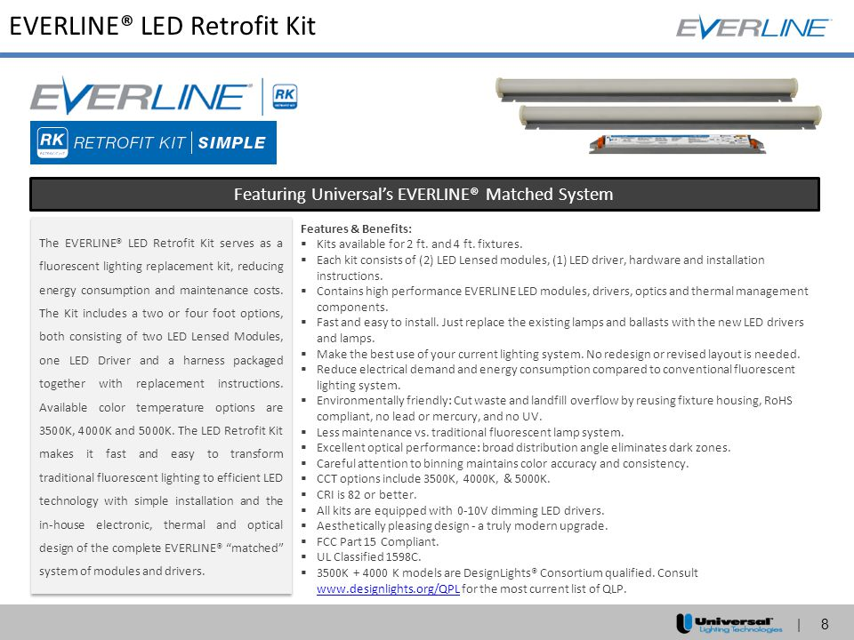Featuring Universal's EVERLINE® Matched System