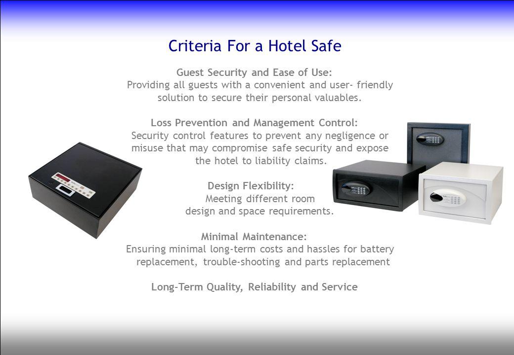 Criteria For a Hotel Safe