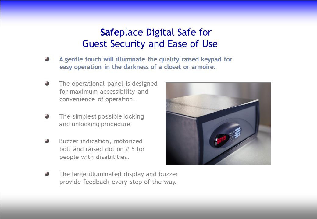 Safeplace Digital Safe for Guest Security and Ease of Use