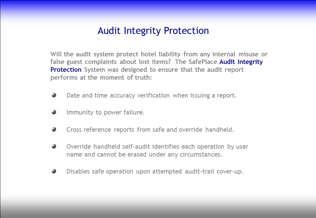 Audit Integrity Protection