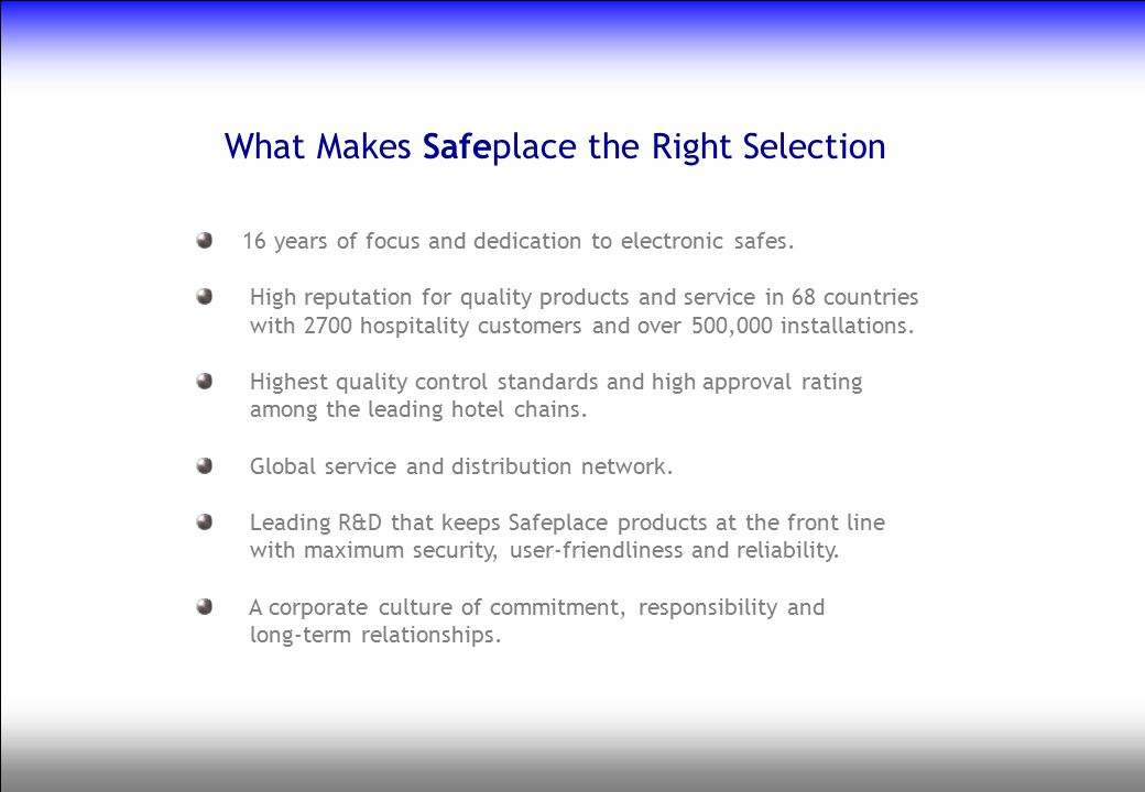What Makes Safeplace the Right Selection