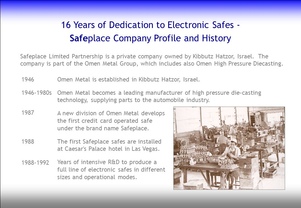 16 Years of Dedication to Electronic Safes -