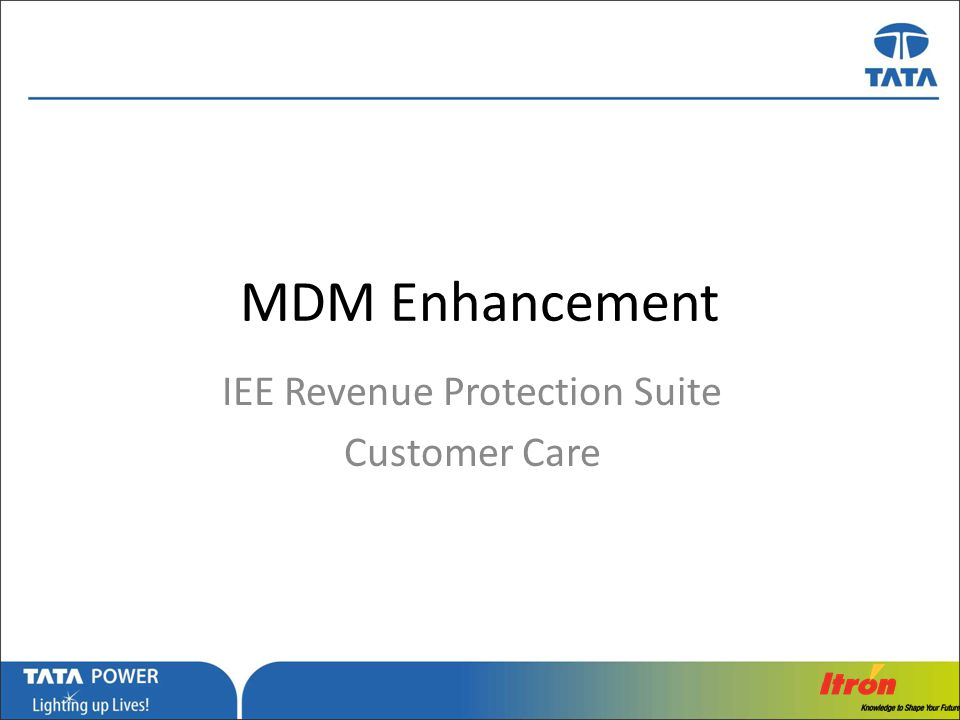 IEE Revenue Protection Suite Customer Care