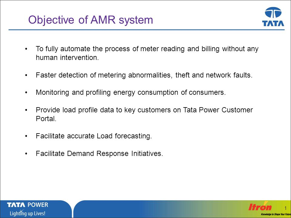 Objective of AMR system