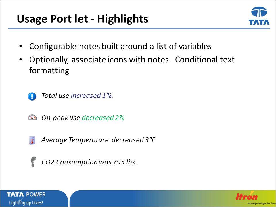Usage Port let - Highlights