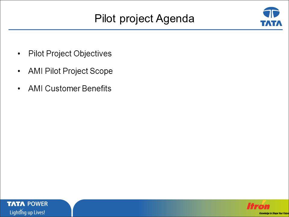 Pilot project Agenda Pilot Project Objectives AMI Pilot Project Scope
