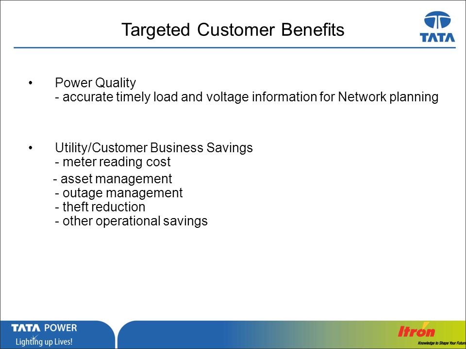 Targeted Customer Benefits