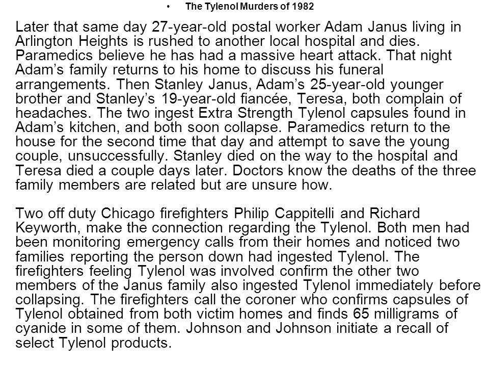 The Tylenol Murders of 1982