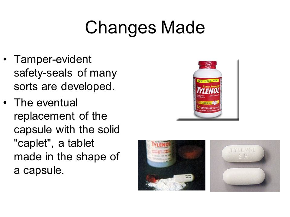 Changes Made Tamper-evident safety-seals of many sorts are developed.