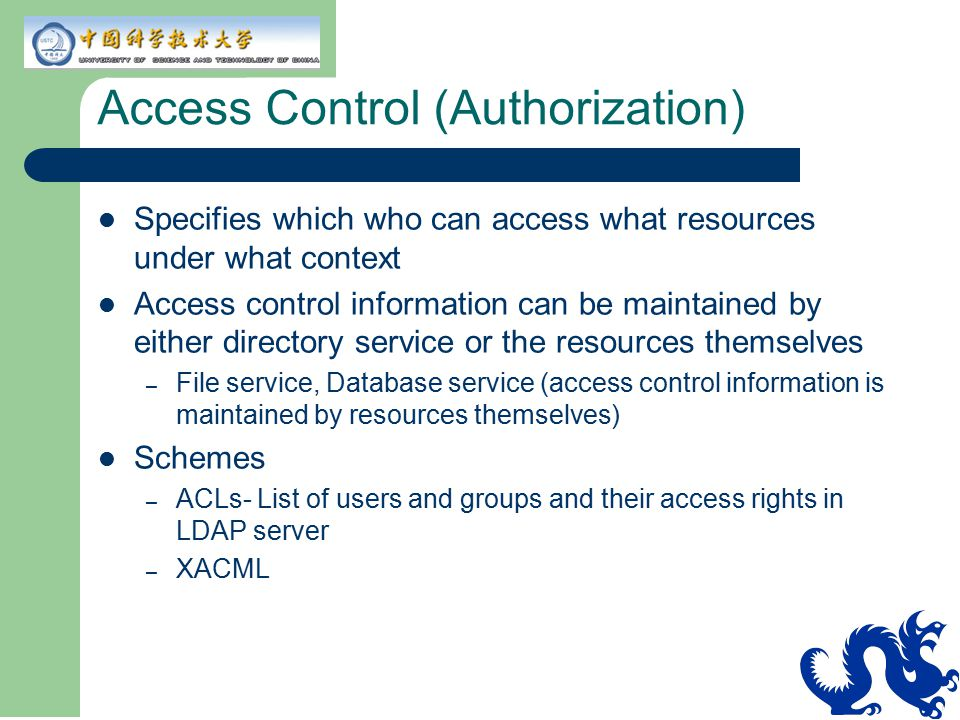Access Control (Authorization)