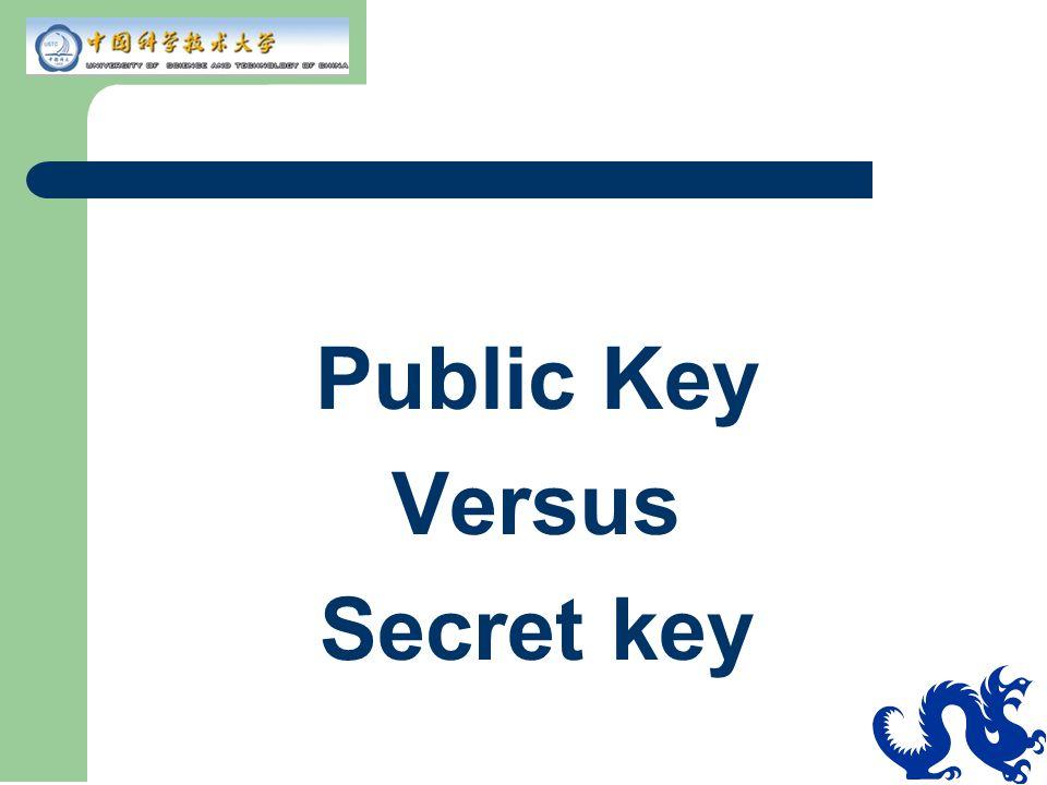 Public Key Versus Secret key