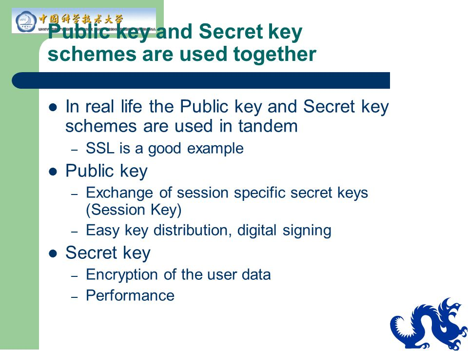 Public key and Secret key schemes are used together