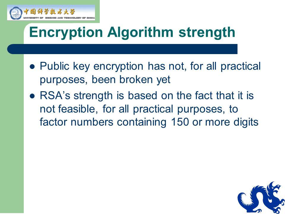 Encryption Algorithm strength