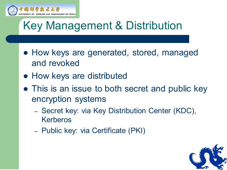 Key Management & Distribution