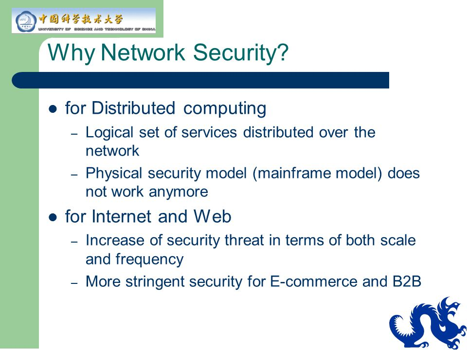 Why Network Security for Distributed computing for Internet and Web