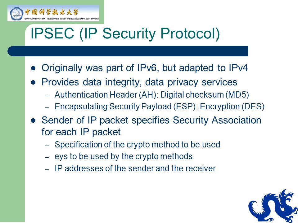 IPSEC (IP Security Protocol)