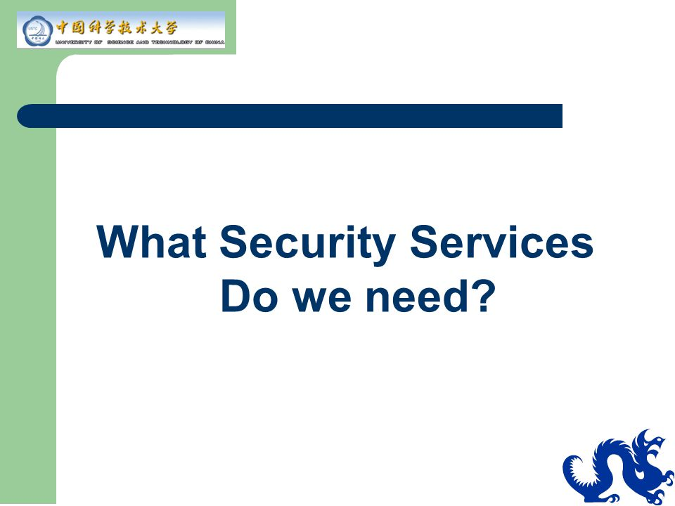 What Security Services Do we need