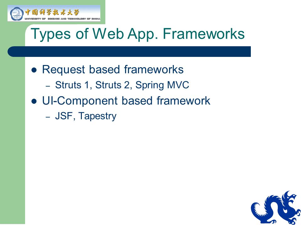 Types of Web App. Frameworks