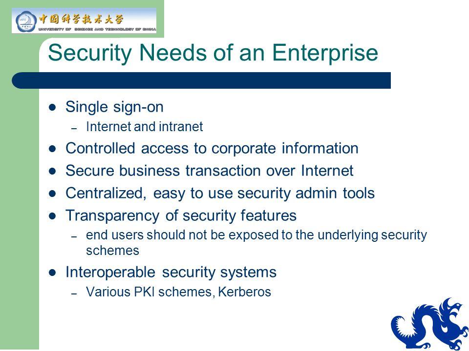 Security Needs of an Enterprise