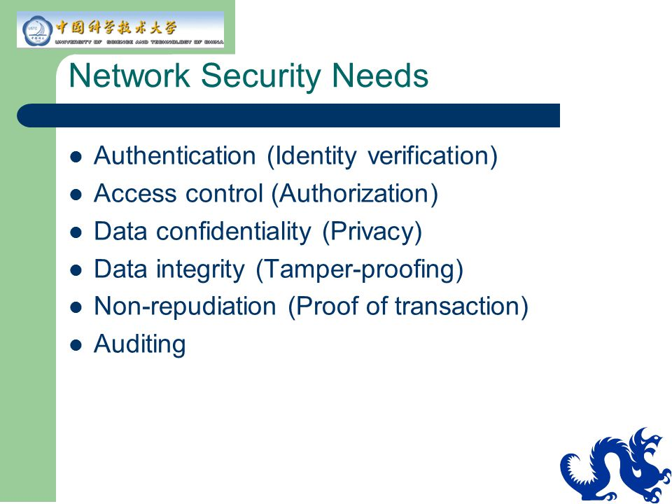 Network Security Needs