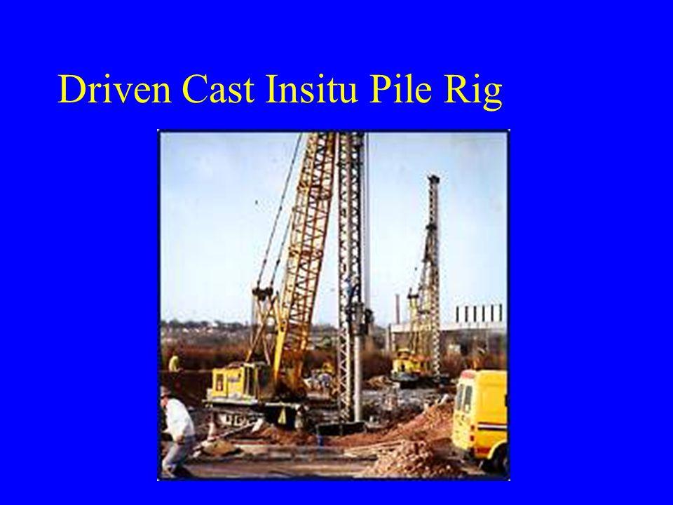 Driven Cast Insitu Pile Rig