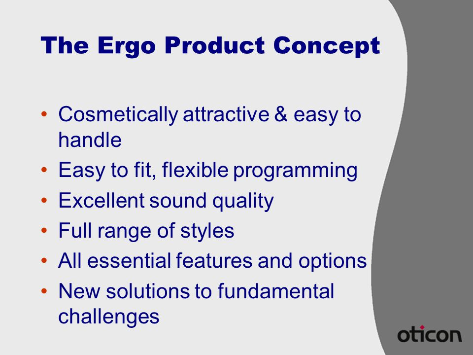 The Ergo Product Concept